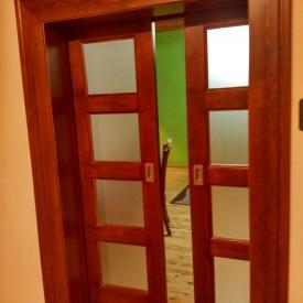 Interiérové dvere dvojkrídlové posuvné
