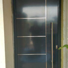 Vchodové dvere - renovácia drevo-hliník