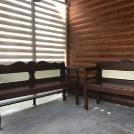 drevené lavice starodávne