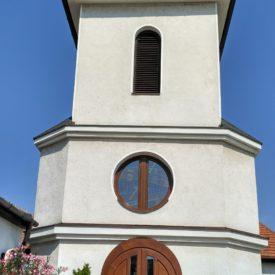 Vchodové dvere dvojkrídlové na Evanjelický kostol v Galante
